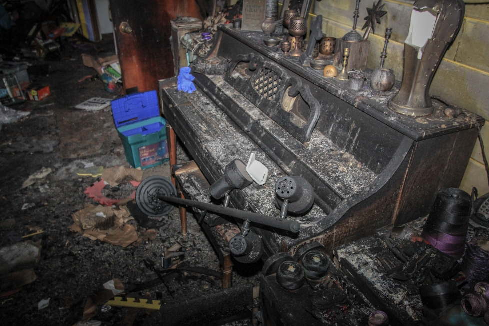 Burned Piano